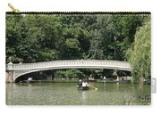 Bow Bridge And Row Boats Carry-all Pouch