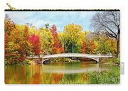 Bow Bridge Autumn In Central Park  Carry-all Pouch