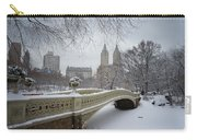 Bow Bridge Central Park In Winter  Carry-all Pouch by Vivienne Gucwa