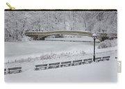 Bow Bridge Central Park Winter Wonderland Carry-all Pouch