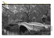 Bow Bridge Nyc In Black And White Carry-all Pouch