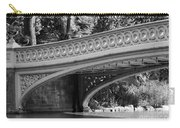 Bow Bridge Texture Bw Carry-all Pouch