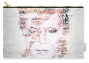 Bowie Typo Carry-all Pouch by Taylan Apukovska