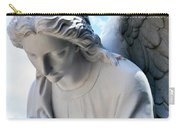 Bowing Male Angel With Blue Sky And Clouds Carry-all Pouch
