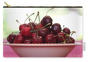 Bowl Of Cherries Closeup Carry-all Pouch by Carol Groenen