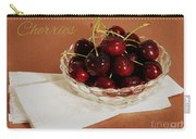 Bowl Of Cherries With Text Carry-all Pouch