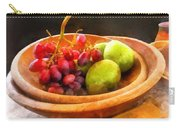 Bowl Of Red Grapes And Pears Carry-all Pouch by Susan Savad