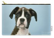 Boxer Dog, Close-up Of Head Carry-all Pouch by John Daniels