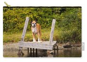 Boxer On Lake Dock Carry-all Pouch
