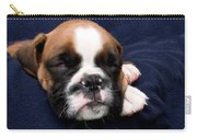 Boxer Puppy Sleeping Carry-all Pouch by Weston Westmoreland