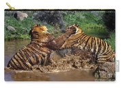 Boxing Bengal Tigers Wildlife Rescue Carry-all Pouch