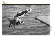 Boy And His Dog Dive Together Carry-all Pouch