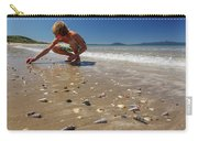 Boy Picking Seashells On The East Coast Carry-all Pouch