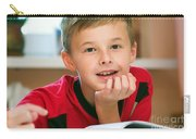 Boy Reading Book Portrait Carry-all Pouch