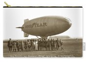 Boy Scouts And Goodyear Blimp Guarding Graf Zeppelin Los Angeles Airport Aug. 26 1929 Carry-all Pouch