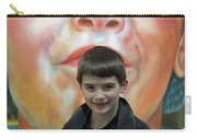 Boy With His Portrait Carry-all Pouch