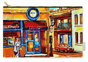 Boy With Steinbergs Bag Near Waldmans Market Paintings Colonial St Vintage Montreal Art C Spandau Carry-all Pouch