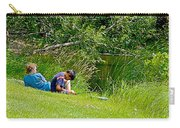 Boys Fishing In Pipestone National Monument-minnesota Carry-all Pouch