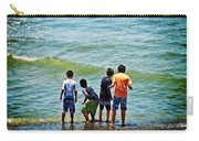 Boys On The Beach Carry-all Pouch