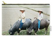 Boys On Water Buffalo In Countryside-vietnam Carry-all Pouch