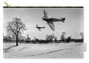 Low-flying Spitfires Black And White Version Carry-all Pouch