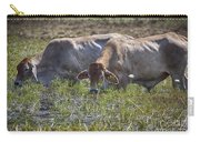 Brahman Cattle At The Waterhole Carry-all Pouch