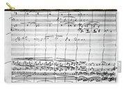 Brahms Manuscript, 1880 Carry-all Pouch