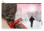 Braided Hair With Red Ribbon Carry-all Pouch