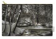 Brainards Bridge After A Snow Storm 4 Carry-all Pouch