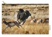 Brahma Bull Meets The Pronghorn Carry-all Pouch