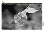 Bramble Leaves - Black And White Carry-all Pouch