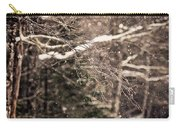 Branch In Forest In Winter Carry-all Pouch
