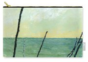 Branches On The Beach - Oil Carry-all Pouch by Michelle Calkins