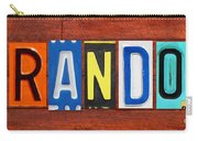 Brandon License Plate Name Sign Fun Kid Room Decor Carry-all Pouch