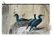 Brandts Cormorant Nesting On Cliff Carry-all Pouch