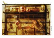 Brass Bench With Polished Copper And Brass Colllection Carry-all Pouch