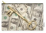 Brass Key To Success Money Carry-all Pouch