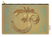 Gold Brass Om Mandala Carry-all Pouch