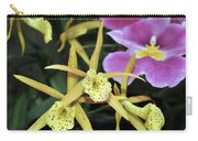 Brassolaelia Yellow Bird And Pink Miltoniopsis  Carry-all Pouch