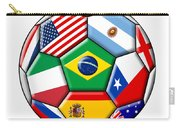 Brazil 2014 - Soccer With Various Flags Carry-all Pouch
