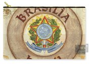 Brazil Coat Of Arms Carry-all Pouch by Debbie DeWitt