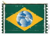 Brazil Flag Like Stamp In Grunge Style Carry-all Pouch