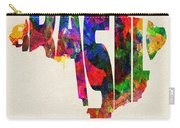 Brazil Typographic Watercolor Map Carry-all Pouch