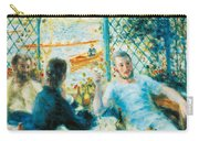 Breakfast By The River Carry-all Pouch by Pierre-Auguste Renoir