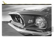 Breaking The Sound Barrier - Mach 1 428 Cobra Jet Mustang In Black And White Carry-all Pouch
