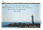 Breakwater Lighthouse Santa Cruz With Verse  Carry-all Pouch