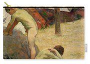Breton Boys Bathing Carry-all Pouch by Paul Gauguin