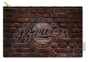 Brewers Baseball Graffiti On Brick  Carry-all Pouch