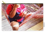 Bribri Indian Child In A Hammock Carry-all Pouch