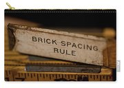 Brick Mason's Rule Carry-all Pouch by Wilma  Birdwell